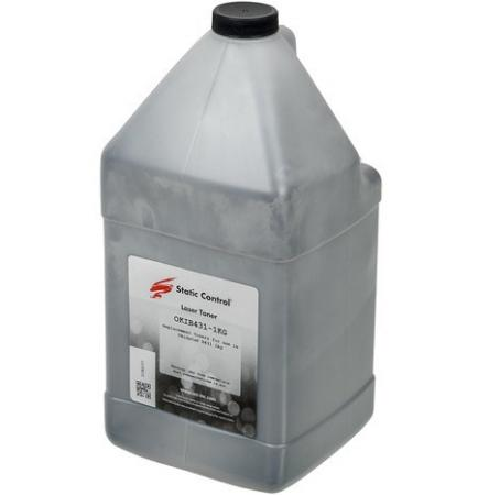 Тонер Static Control OKIB431-1KG черный флакон 1000гр. для принтера OKI B431 цена