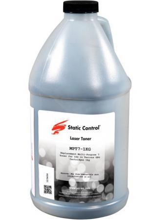 Фото - Тонер Static Control MPT7-1KG черный флакон 1000гр. для принтера HP LJP1005/1006/1505 тонер static control kytk895 1kg ma пурпурный флакон 1000гр для принтера kyocera mita fs c8020 c8025 c8520