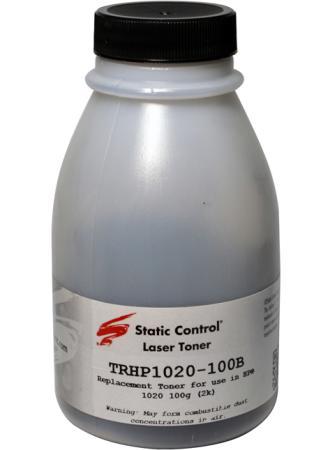 Фото - Тонер Static Control TRHP1020-100B черный флакон 100гр. для принтера HP LJ 1010/1012/1015/1020 чернила краска для заправки принтера hp envy 6454 набор черный 250