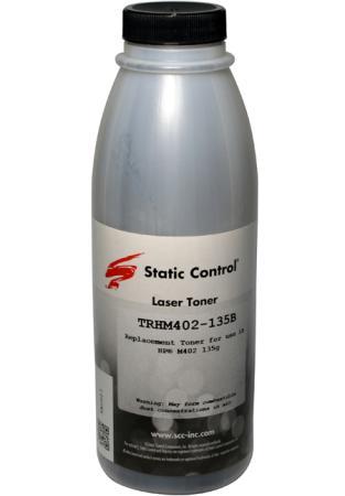 Фото - Тонер Static Control TRHM402-135B черный флакон 135гр. для принтера HP LJ M402/M426 тонер static control trhm606 1160bos черный флакон 1160гр для принтера oki b431