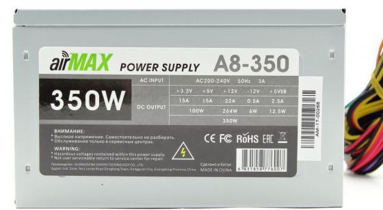 AirMax A8-350W Блок питания 350W ATX (24+4+6пин, 80mm (SCP)\\(OVP)\\(OCP)\\(UVP)\\ATX 12V v.2.3) электроприбор donolux hf 350w 24