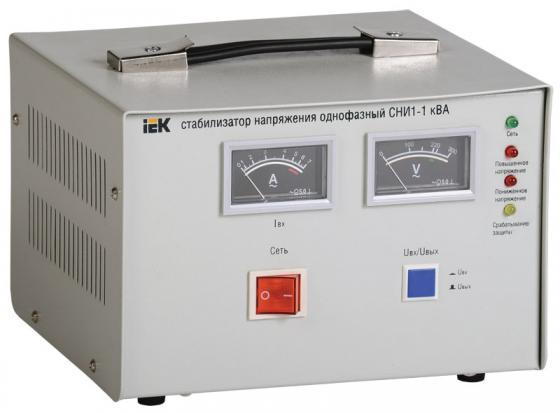 Купить Iek IVS10-1-01000 Стабилизатор напряжения СНИ1-1 кВА однофазный ИЭК, серый
