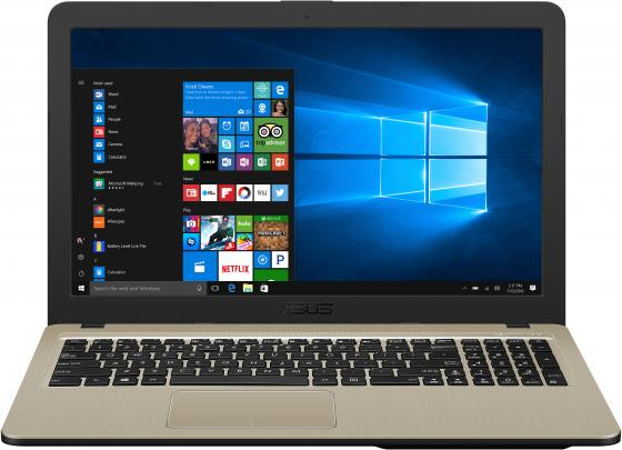 "Ноутбук ASUS X540MA-GQ064T 15.6"" 1366x768 Intel Celeron-N4000 500 Gb 4Gb Intel UHD Graphics 600 черный Windows 10 Home 90NB0IR1-M03660 ноутбук asus f553sa xx305t 15 6 1366x768 intel celeron n3050 500gb 2gb intel hd graphics черный windows 10 home 90nb0ac1 m06000"