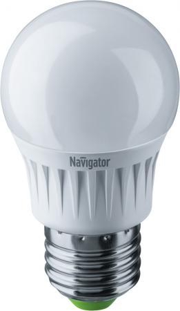 Лампа светодиодная шар Navigator NLL-G45-7-230-2.7K-E27 E27 7W 2700K