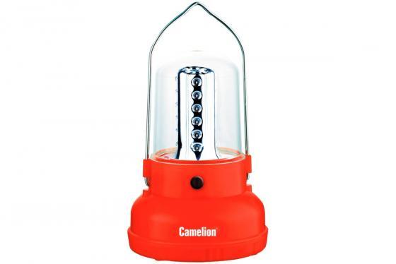 цена на Camelion LED29312 (фонарь акк. 220В кемп, 24 LED, 4В 2.3А-ч, пластик, красный, коробка)