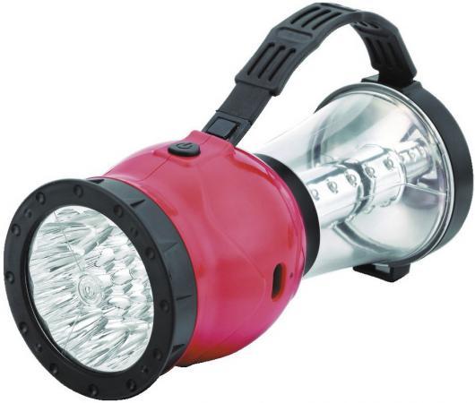 цена на Camelion LED29318 (фонарь акк. 220В кемп, 19/24 LED, 4В 2,3А-ч, пласт, красный, коробка)