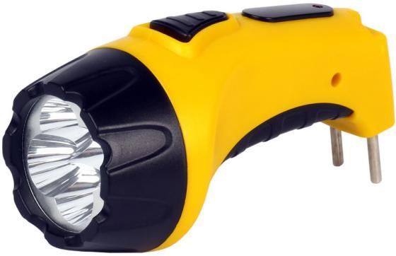 Smartbuy SBF-88-Y Аккумуляторный Светодиодный фонарь 7+8 LED с прямой зарядкой желтый фонарь красная цена 5388 аккумуляторный 9led 2режима 5 9 встр вилка для прямой зарядки от 220в