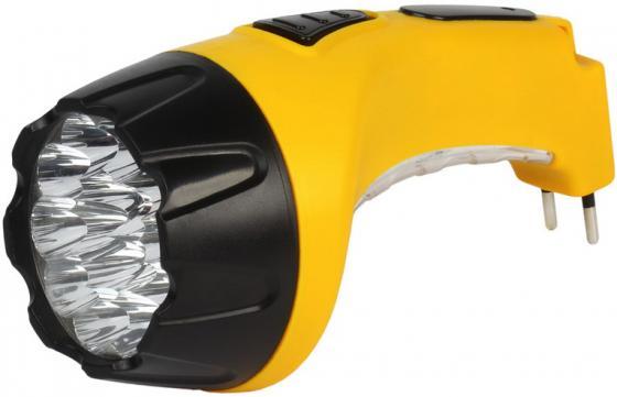 Smartbuy SBF-89-Y Аккумуляторный Светодиодный фонарь 15+10 LED с прямой зарядкой желтый фонарь красная цена 5388 аккумуляторный 9led 2режима 5 9 встр вилка для прямой зарядки от 220в