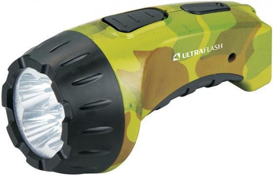 цена на Ultraflash LED3804ML (фонарь аккум 220В, милитари, 4 LED, SLA, пластик, коробка)