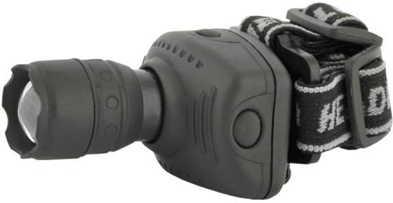 Ultraflash LED5354 (фонарь налобн, серый, 1 ватт LED, ZOOM, 3 реж, 3XR03, пласт, коробка) полотенце ecotex джаз 50x90 бордо jt 02 m бордо burgandy