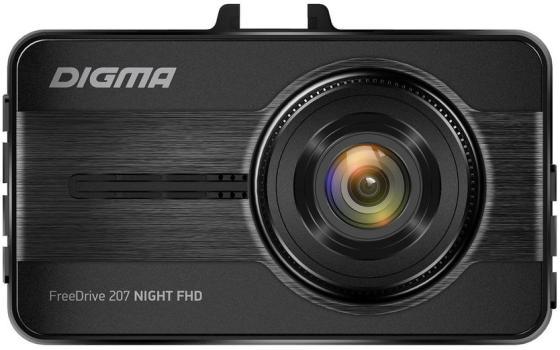 Видеорегистратор Digma FreeDrive 207 Night FHD черный 2Mpix 1080x1920 1080p 150гр. GP6248 видеорегистратор fhd 1080p цена