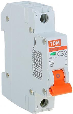 купить Автомат TDM SQ0206-0077 ВА47-29 1р 32А 4.5ка х-ка С онлайн