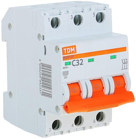 Автомат TDM SQ0206-0112 ВА47-29 3р 32А 4.5ка х-ка С цены