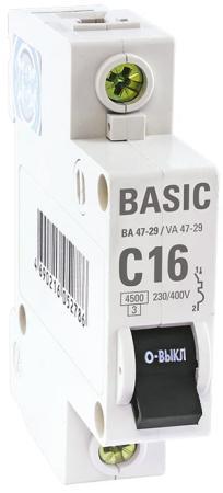 Выключатель EKF mcb4729-1-25C авт. 1п c 25а ва 47-29 4.5ка basic ограничитель ekf opv d4
