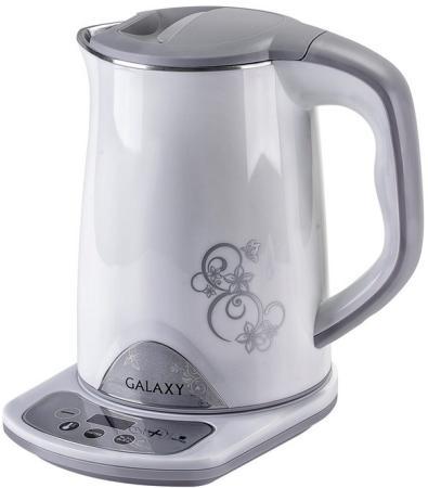 Чайник электрический GALAXY GL 0340 1800 Вт белый 1.5 л металл/пластик цена и фото