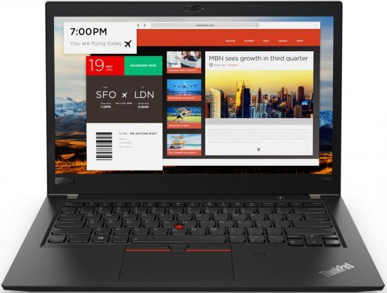 Ноутбук Lenovo ThinkPad T480s 14 1920x1080 Intel Core i5-8250U 256 Gb 16Gb 4G LTE Intel UHD Graphics 620 черный Windows 10 Professional 20L7004PRT