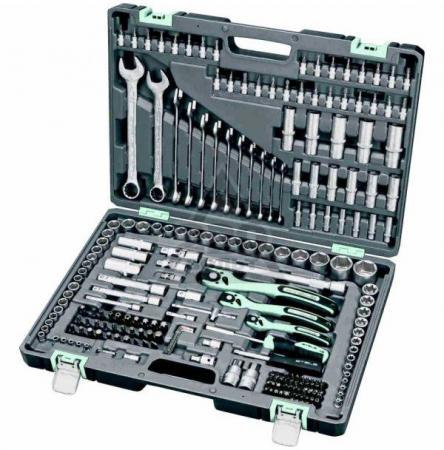 Набор инструментов STELS 14115 1/4 3/8 1/2 cr-v s2 усиленный кейс 216предм.