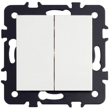 Выключатель LUXAR Art с/у 15.011.04 2-кл. слон.кость б/рамки, 250В 10А