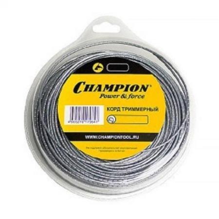 CHAMPION Корд трим. Aluminium 2.7мм*72м (круглый) C7035 Корды CHAMPION, шт