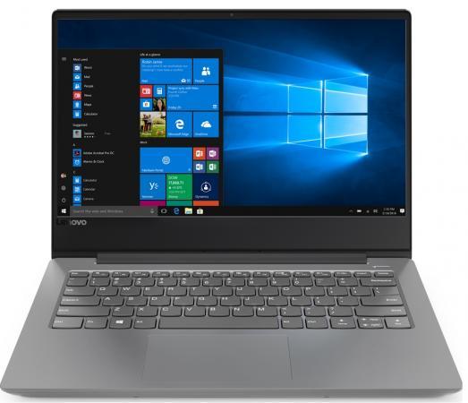 "Ноутбук Lenovo IdeaPad 330S-14IKB 14"" 1920x1080 Intel Core i5-8250U 128 Gb 6Gb Intel UHD Graphics 620 серый Windows 10 Home 81F4013RRU все цены"