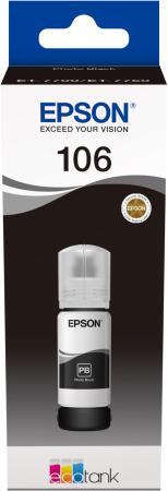 Картридж струйный Epson 106BK C13T00R140 черный (70мл) для Epson L7160/7180