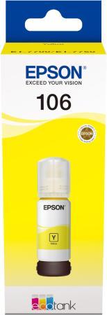 Картридж струйный Epson 106Y C13T00R440 желтый (70мл) для Epson L7160/7180