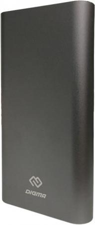 Мобильный аккумулятор Digma DG-ME-20000 Li-Pol 20000mAh 3A темно-серый 2xUSB мобильный аккумулятор hiper mpx20000 li pol 20000mah 3a 3a 2 4a серый 2xusb