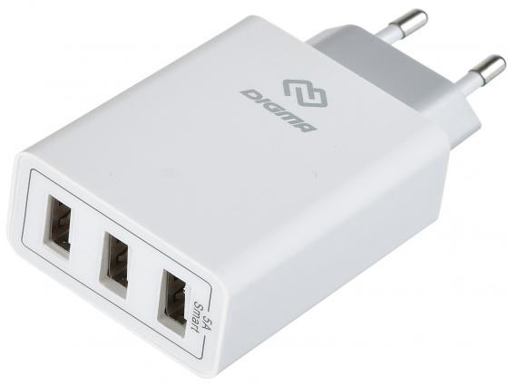 Сетевое зарядное устройство Digma DGWC-3U-5A-WG 5А белый