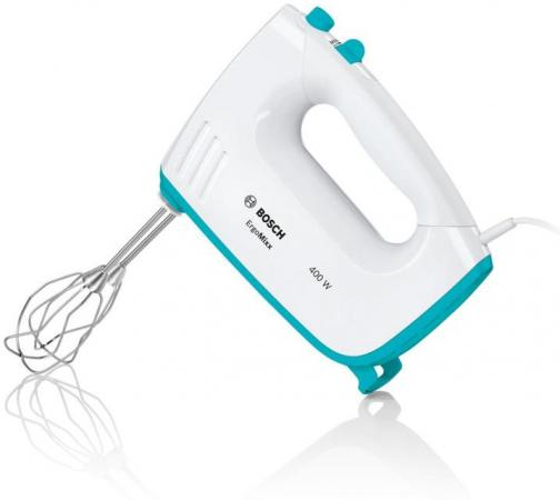 Миксер ручной Bosch MFQ36300D 400Вт белый/бирюзовый миксер bosch mfq36480 ручной белый и серый