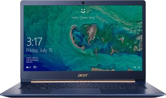 """Ультрабук Acer Swift 5 SF514-53T-73AG 14"""" 1920x1080 Intel Core i7-8565U 512 Gb 8Gb Intel UHD Graphics 620 синий Windows 10 Home NX.H7HER.003 ультрабук acer swift 5 sf514 53t 784c 14"""