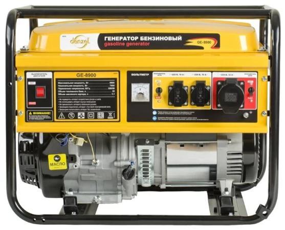 Генератор DENZEL GE 8900 бензиновый 8.5кВт 220в/50гц 25л ручной старт цена