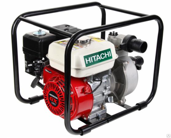 Мотопомпа HITACHI A160EA 5.4лс 60000л/ч глубина 8м высота 32м бензиновая мотопомпа hitachi a160e