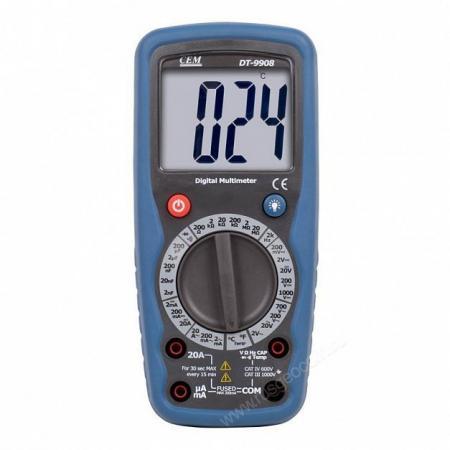Мультиметр CEM DT-9908 цифровой мультиметр cem dt 101 цифровой компактный