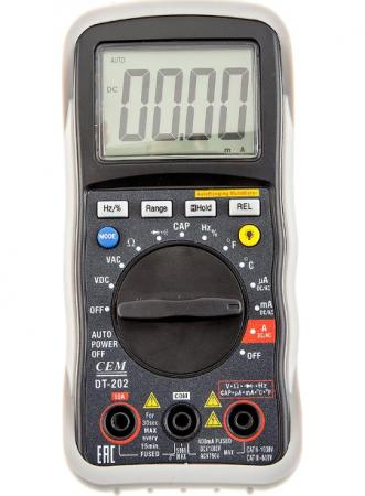 Мультиметр CEM DT-202 цифровой мультиметр cem dt 101 цифровой компактный