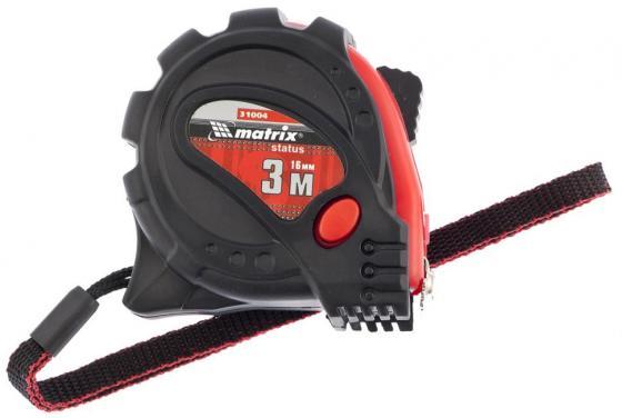 Рулетка MATRIX 31004 status magnet 3 fixations 3мх16мм обрезиненный корпус зацеп с магнитом цена в Москве и Питере