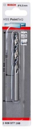 Сверло BOSCH 2.608.577.168  Ф6.5 мм HSS PointTeQ (1шт)