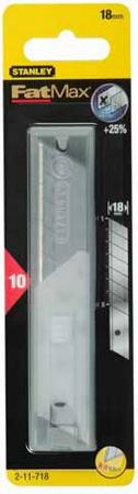 Stanley лезвие для ножа fatmax с 18-мм лезвием с отламывающимися сегментами х 10шт 2-11-718 шт