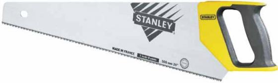 Stanley ножовка по дереву универсальная с закаленным зубом 12 х 380мм (1-20-002), шт stanley ножовка по гипсокартону jet cut appliflon с закаленным зубом 7 х 450мм 2 20 149