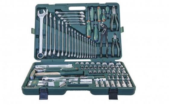 S04H524127S18 Набор инструмента универсальный 1/2 и 1/4 DR, 127 предметов omt33s набор инструмента универсальный 1 2dr 33 предмета шт