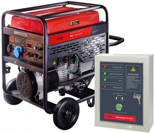 цена на Бензиновая электростанция с электростартером и коннектором автоматики BS 11000 A ES (838789)+ Блок а, шт