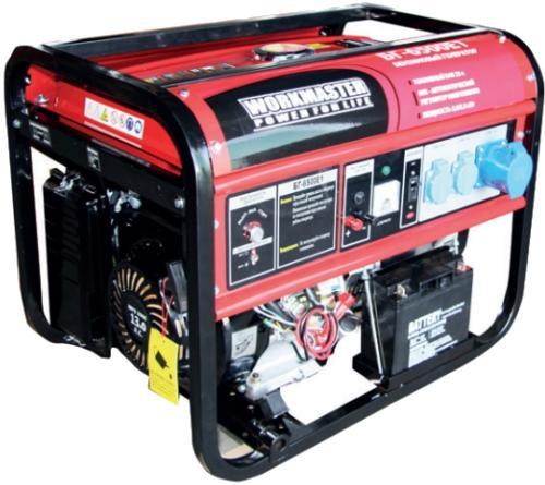 Бензиновый генератор БГ-6500E1 Workmaster, шт все цены