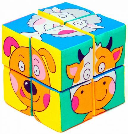 Кубики МЯКИШИ Собери картинку Зверята 8 шт мякиши игрушка собери картинку ягоды фрукты овощи