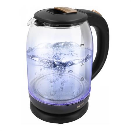 Чайник электрический HOME ELEMENT HE-KT191 1800 Вт черный жемчуг 2 л стекло чайник home element he kt181 1800 вт темный топаз 2 л пластик стекло