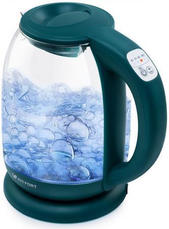 Чайник электрический KITFORT КТ-640-4 2200 Вт изумрудный 1.7 л пластик/стекло чайник электрический element el kettle 2200 w