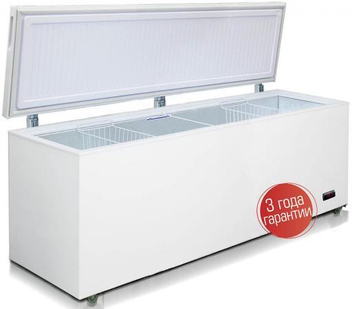 Морозильный ларь Бирюса Б-680VDKQ белый морозильный ларь бирюса 260vк