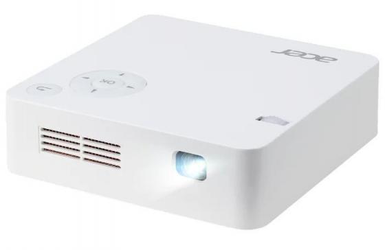Проектор Acer C202i MR.JR011.001 854х480 - 5000:1 белый цена и фото