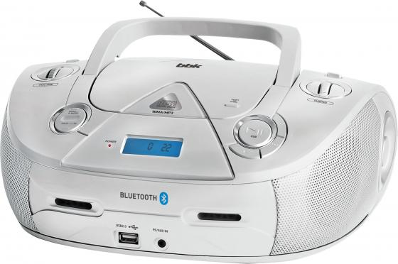 Аудиомагнитола BBK BX318BT серебристый 5Вт/CD/CDRW/MP3/FM(dig)/USB/BT аудиомагнитола bbk bx180u черный оранжевый 2вт cd cdrw mp3 fm dig usb