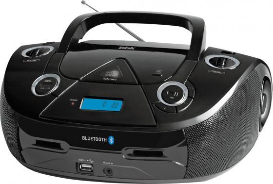 Аудиомагнитола BBK BX318BT черный 5Вт/CD/CDRW/MP3/FM(dig)/USB/BT аудиомагнитола telefunken tf srp3503b серый 6вт mp3 fm dig usb bt sd