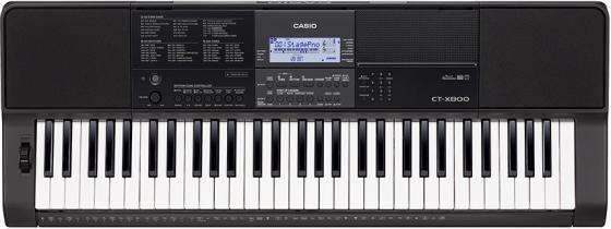 Синтезатор Casio CT-X800 61клав. черный цена и фото