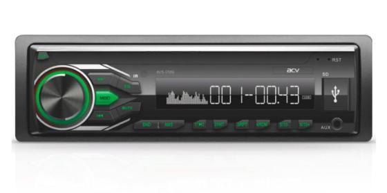 Автомагнитола ACV AVS-1712G 1DIN 4x45Вт автомагнитола acv avs 1712w 1din 4x45вт